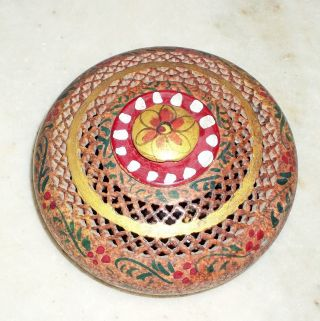 A Attractive Painted Soapstone Jewelry Box photo
