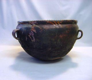 1700/1800 ' S Glazed Earthenware Olla Ethnic Vessel Cooking Pot Guatemala 17