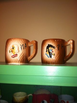 Vintage Mom And Dad Mugs photo