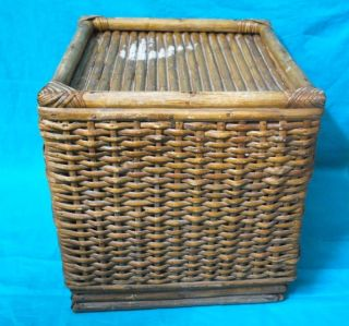 1900 ' S Antique Very Rare Rattan Bamboo Cane Hand Crafted Stool photo
