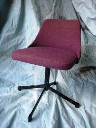 Midcentury Cosco Child ' S Chair,  Mid Century Cosco Purple Chair / Stool,  Atomic photo