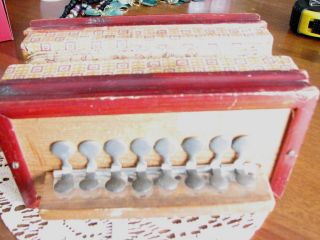 Antique Estate Toy Accordian,  Play,  Pretend,  Works Musical Instument Tin Keys photo