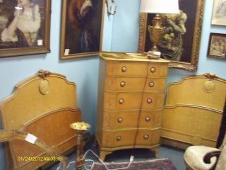 Fabulous Vintage French Art Nouveau Bedroom Set From The 1930