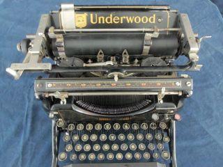 Antique 1929? Vintage Master Grade Underwood Standard Typewriter No.  5 Steampunk photo