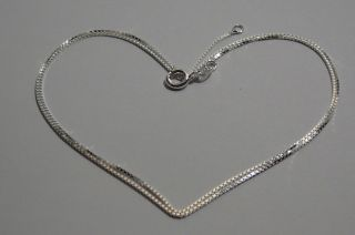 Sterling Silver 925.  Elegant.  Necklace 19 5/8 .  Men ' S Women ' S photo