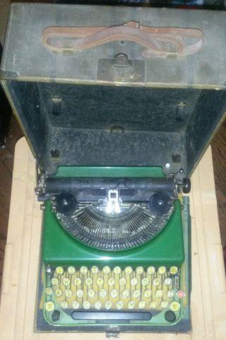 Antique Remington 2 - Toned Green Typewriter photo