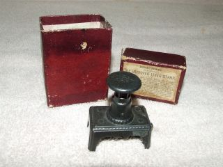 Antique Victorian Ink Stamp With Box