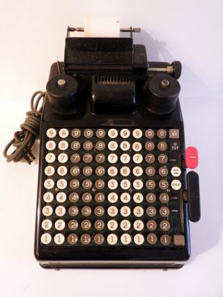Vintage Burroughs Adding Machine,  Electric,  Working,  Typewriter,  Business Office photo