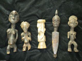 African Tribal Art,  Ceremonial,  Ritual,  Luba,  Baluba,  Congo Wood Sculptures photo