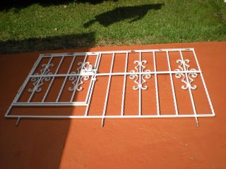 Antique Victoian Wrought Iron Window Guards.  Iron Size: 167 X 97 Cm photo