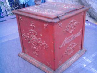 Rare 1800 ' S Cast Iron. . . .  National Cash Box. . . . . . photo