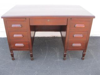 Solid Mahogany Desk By Macey - Morris Boston - 421 photo