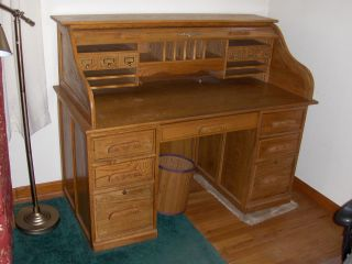 Solid Oak Roll Top Desk - Secretary,  Yardley,  Pa photo