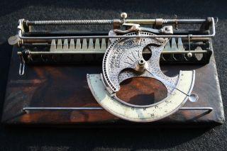 Antique Typewriter The World No.  1 Index Schreibmaschine photo