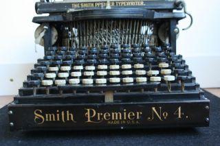 Antique Typewriter Smith Premier 4 1901 - 1908 Schreibmaschine (usa) photo