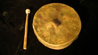 Late 19th Century Native American Hand Drum photo