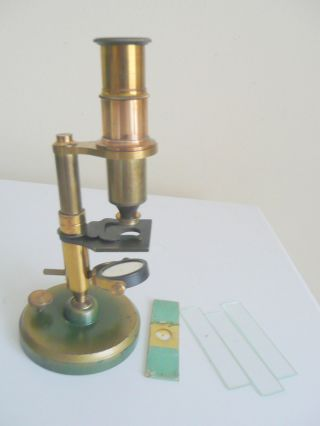 Antique Mahogany Cased Microscope, photo