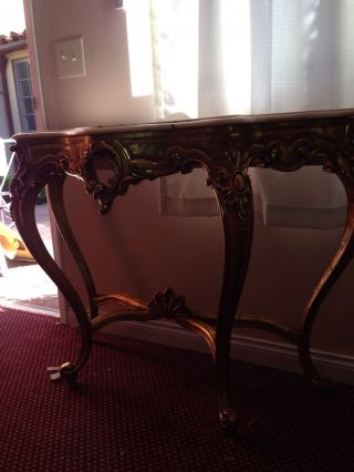 Marble Top Gold Console photo