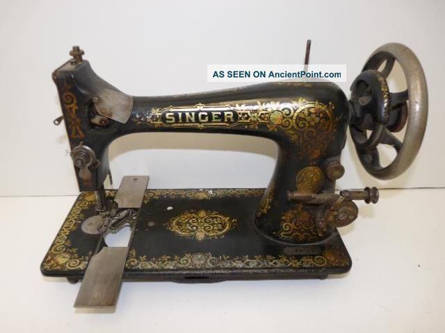 Antique Vintage Singer Sewing Machine Treadle Model 24 Sn: H1267576 Circa 1906 Sewing Machines photo