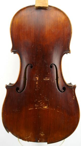 Antique Mittenwald German Violin For Restoration And Repair - photo