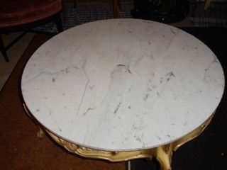 Vintage Round Coffee\ Accent Table Possible Made By Louis Xvi Made In Italy photo