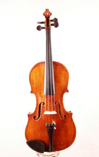 Old Antique 150 Years Old Italian Or German 4/4 Violin (fiddle,  Geige) photo