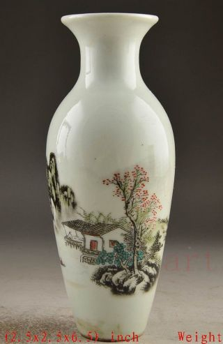 Jingdezhen Porcelain Chinese Collectable Handwork Old Painting Water Vase ☆☆☆☆☆ photo