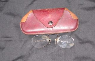 1900 ' S Optometist Sample Eye Glasses With Case Rare photo