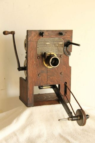 Edison Projecting Kinetoscope,  Hand - Crank 35mm Motion Picture Projector Head photo