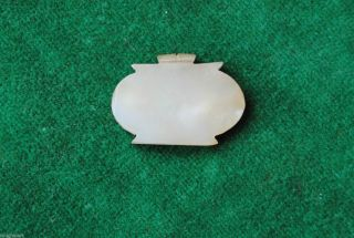 1750 Antique Islamic Ottoman Mughal Mutton Fat White Jade Nephrite Pendant photo