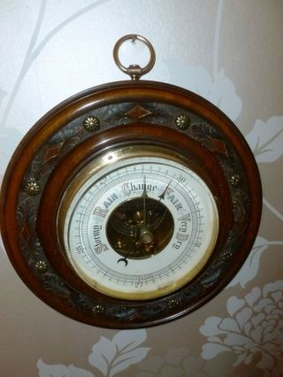 A 1930 ' S Walnut Barometer photo