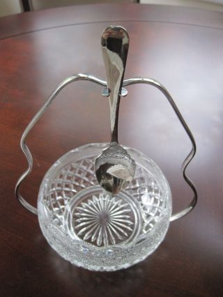 Silver Jubilee Vintage Sugar Bowl With Silverplate Stand Spoon,  Falstaff England photo
