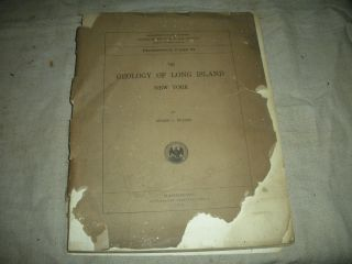 1914 Geology Of Long Island New York By Myron Fuller Illustrated & Maps Vafo photo