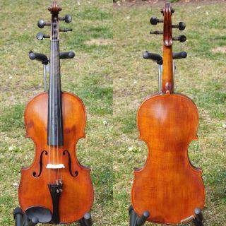 Antique Czech Violin By Josef Brandner,  Schonbach,  1921 + Coffin Case photo