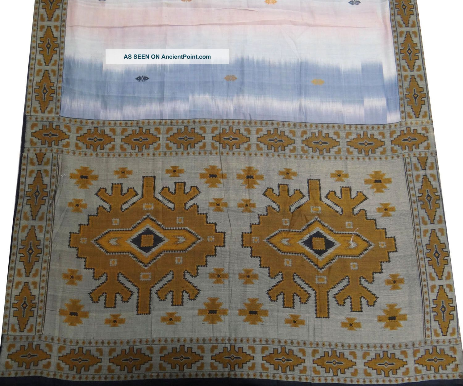 Vintage Saree Polyester Weaving Indian Sari Fabric White Making Antique Wrap Other photo