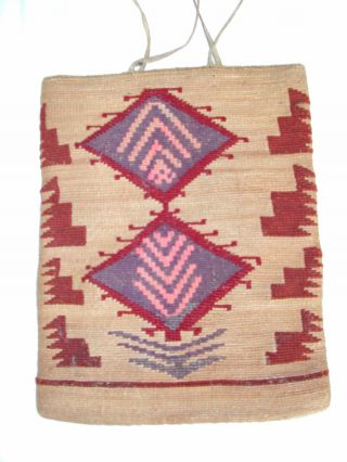 Wonderfully Nez Perce Indian Corn Husk Bag photo