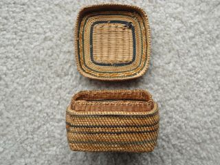 Makah Native American Indian Basket photo