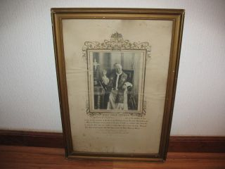1906 - 12 Pope Pius X Photo On Large Stamped Board Framed Most Holy Father Look photo