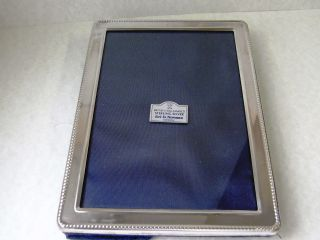 Silver Sterling Picture Frame Ari D.  Norman British Hallmarked Fr542 photo
