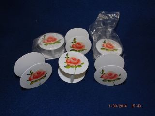 Napkin Holders Antique Set Of 6 Hand Painted Toleware From Denmark New photo