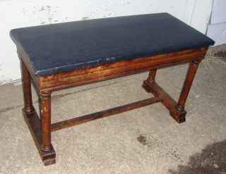 Vintage Traditional Duet Piano Bench 100 Years Old Circa 1915 photo