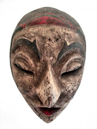 Old Womens Mask From Java 1940 ' S,  Indonesia.  Vintage Tribal Ethnic Exotic photo