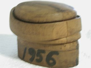 Antique Wood Hat Block Millinery Form Puzzle Mold Michael Chanda New York photo
