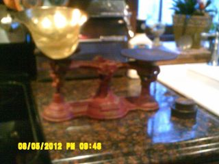 Antique Troemner Store Scale 6 Lb Capacity With 2 Weights Philadelphia Pa photo