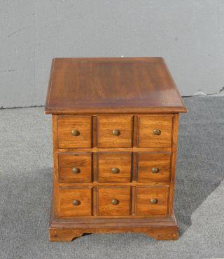Vintage Henredon Mid - Century Three Drawer Nightstand End Table photo