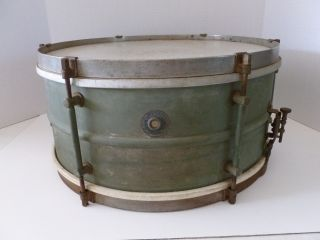 Antique 1930s Leedy & Strupe Snare Drum L & S Snare Drum photo
