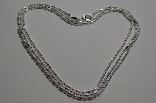 . Necklace 20  (50 Cm).  Men ' S - Women ' S.  Silver.  925 Mark. photo
