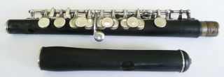 1927 Wm.  S.  Haynes Piccolo 9828 Sterling Silver & Grenadilla Wood Boston Mass photo