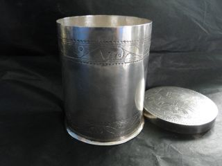 Sudanese Islamic Sterling Silver Box Sterling Silver Made C.  1960 photo