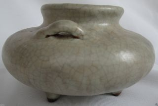 Chinese Sung Dynasty Chun Ware 3 Feet Glazed Urn photo